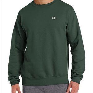 Champion dark green men's sweatshirt